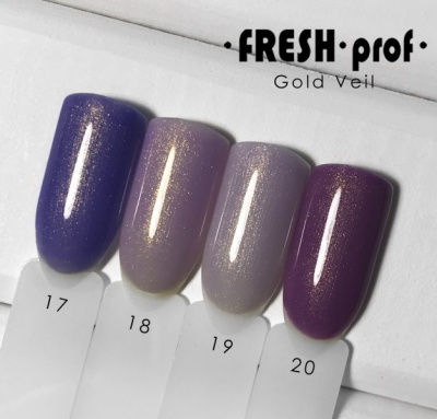 Гель лак Fresh Prof Gold Veil 10мл №20