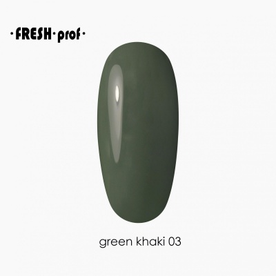 Гель лак Fresh Prof Green 10мл G03