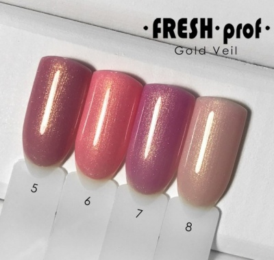 Гель лак Fresh Prof Gold Veil 10мл №08
